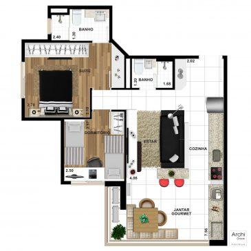 2-Dormitorios-1-Suite-58m