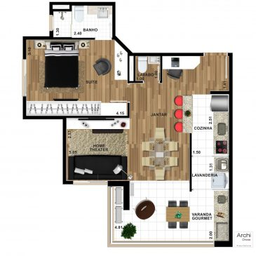 Home-Theater-Cozinha-Americana-1-Suite-58m